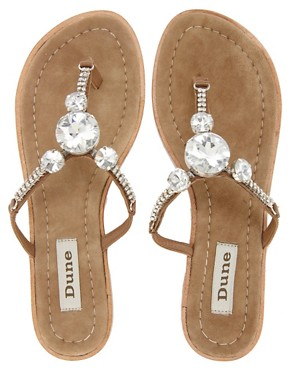 Image 3 ofDune Farrah Gem Toe Post Sandal
