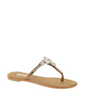 Image 1 ofDune Farrah Gem Toe Post Sandal