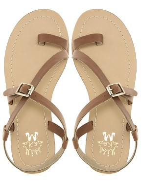 Image 3 ofMiss KG Kelsey Leather Flat Sandals