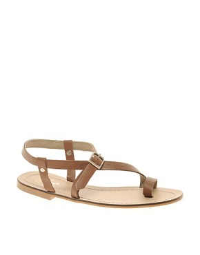 Image 1 ofMiss KG Kelsey Leather Flat Sandals