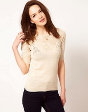 Vero Moda Jumper With Flower Detail