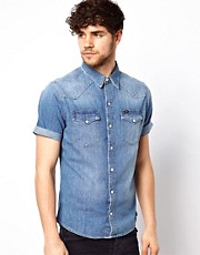 Lee Shirt Denim Mid Wash