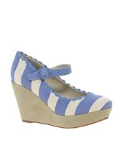 Shellys Frankie Wedge Heel Ankle Strap Shoes