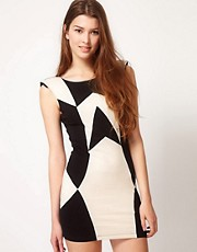 Motel Panelled Bodycon Dress