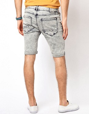Image 2 ofRiver Island Acid Vinny Light Shorts