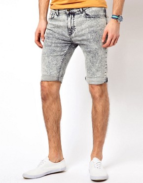 Image 1 ofRiver Island Acid Vinny Light Shorts