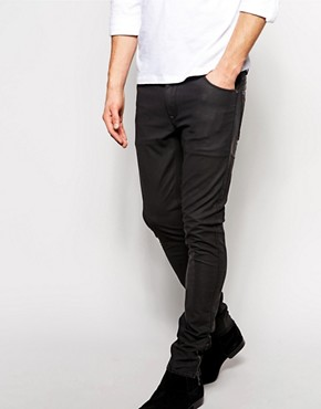 ASOS Super Skinny Jeans In Leather Look