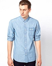 Fred Perry Shirt in Bleached Chambray