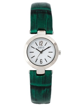 Image 1 ofOasis Green Strap Watch