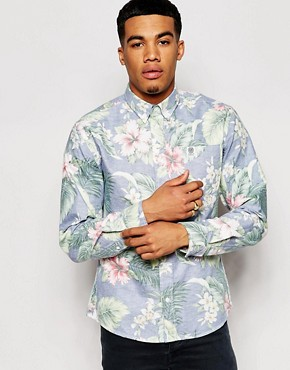 Franklin & Marshall Washed All Over Print Floral Shirt