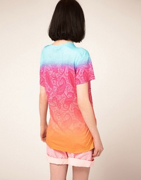Image 2 ofJonathan Saunders Boyfriend T Shirt In Bright Paisley