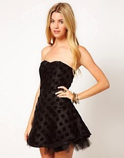 AX Paris Polka Dot Prom Dress