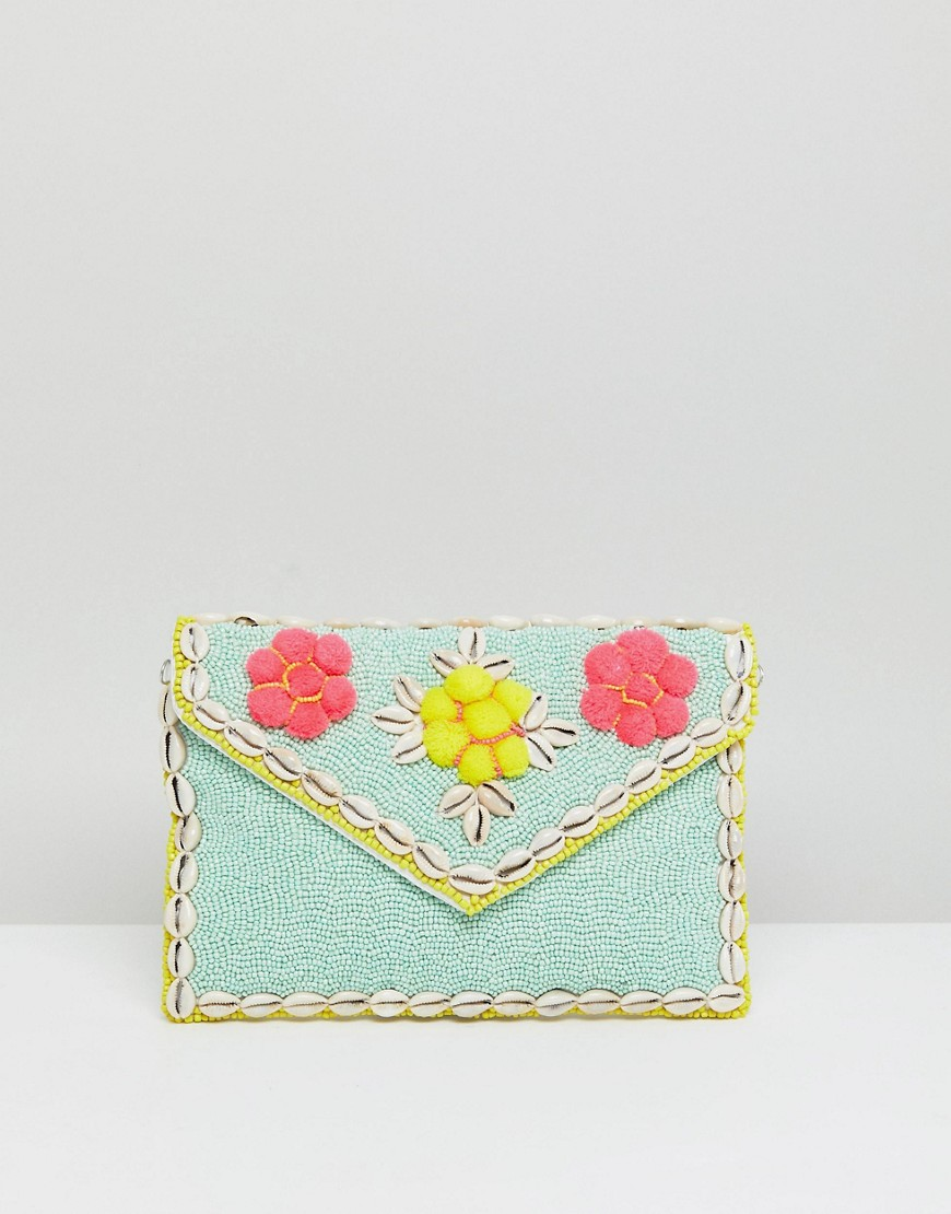 park-lane-embellished-3d-floral-clutch-bag-with-detachable-strap-blue