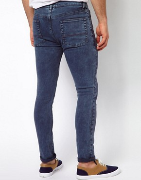 Image 2 ofASOS Super Skinny Jean In Washed Blue