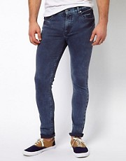 ASOS Super Skinny Jean In Washed Blue