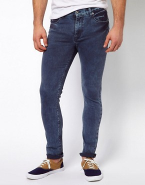 Image 1 ofASOS Super Skinny Jean In Washed Blue