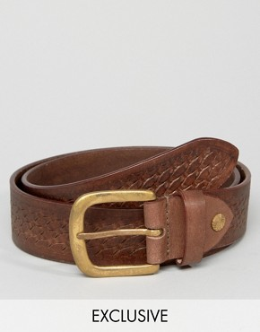 Reclaimed Vintage Embossed Leather Belt