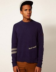 Boxfresh Jumper Crew Neck Knit Gaiga