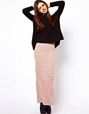 ASOS Maxi Skirt with Neon Stripe