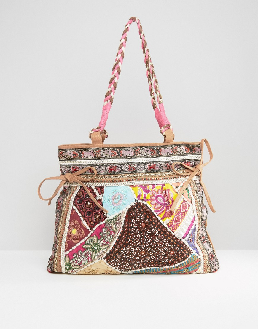 raga-mid-sized-pitch-bag-with-braided-handles-multi