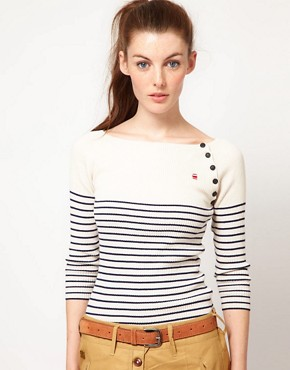 Image 1 ofG-Star Striped Knitted Top