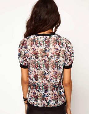 Image 2 ofASOS Top with Printed Sheer Band