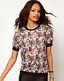 Image 1 ofASOS Top with Printed Sheer Band