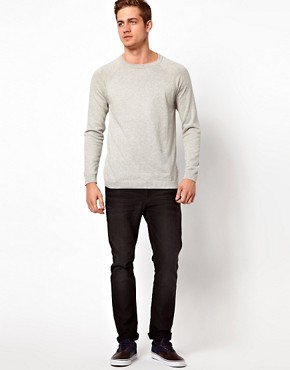 Image 4 ofASOS Crew Neck Jumper with Elbow Patches