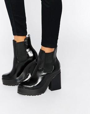 Ботинки челси на каблуке EEight Yolanda - Черный