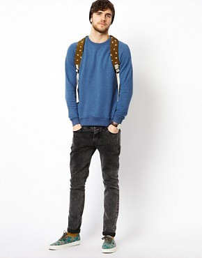Image 4 ofASOS Sweatshirt With Raglan Sleeves