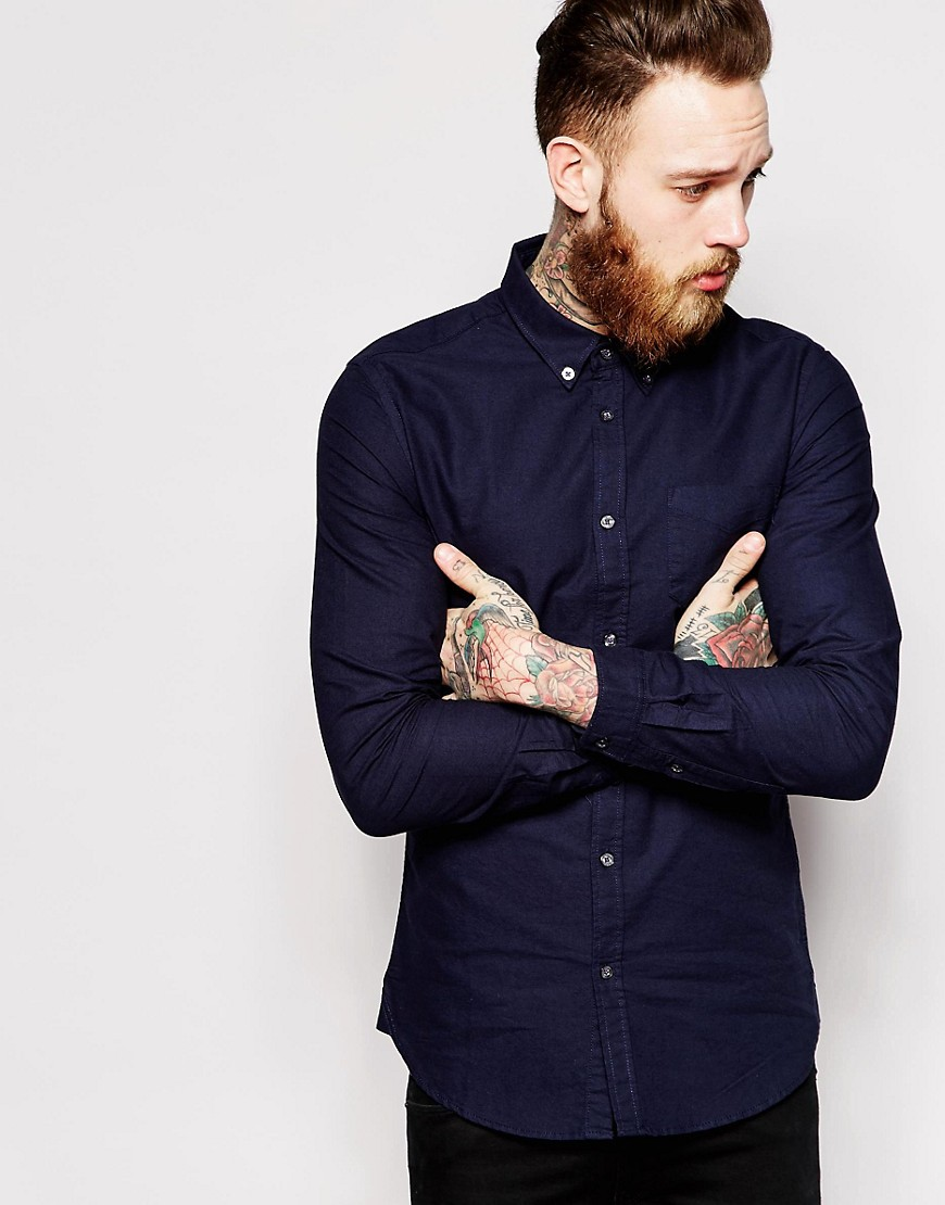 Dr Denim Pete Slim Fit Shirt Oxford - Blue