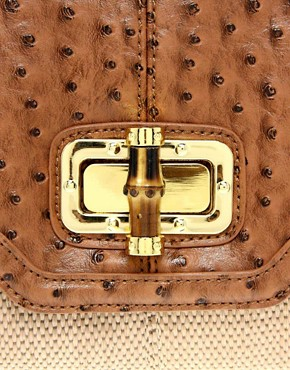 Image 4 of ALDO Rutgers Straw Clutch Bag