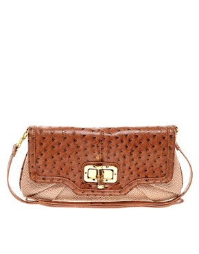 Image 1 of ALDO Rutgers Straw Clutch Bag