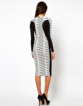 Image 2 ofASOS Midi Bodycon Dress In Stripe