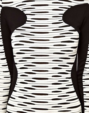 Image 3 ofASOS Midi Bodycon Dress In Stripe