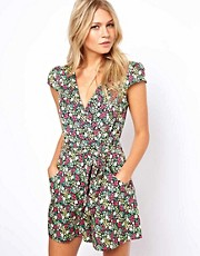 Oasis Ditsy Floral Print Playsuit