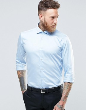 Ted Baker Slim Shirt With Stretch