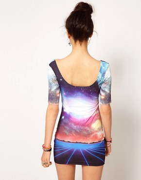 Image 2 ofBambam Bodycon Mini Dress in Void Print