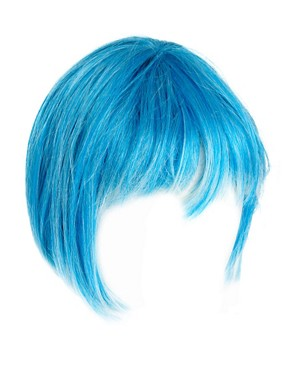 Image 2 ofAnnabelle&#39;s Wigs Blue Cropped Wig With Bleached Ends