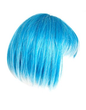 Image 4 ofAnnabelle&#39;s Wigs Blue Cropped Wig With Bleached Ends