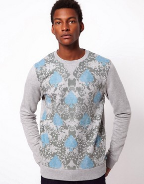 Image 1 ofASOS Sweatshirt With Double Layer Spade Print