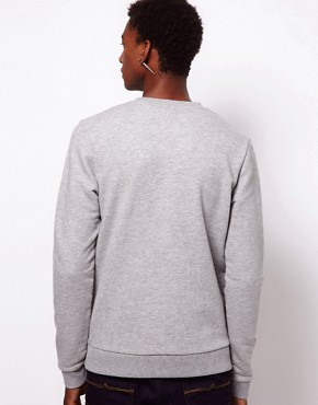 Image 2 ofASOS Sweatshirt With Double Layer Spade Print