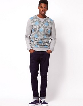 Image 4 ofASOS Sweatshirt With Double Layer Spade Print