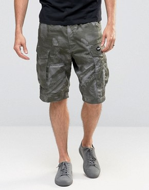 G-Star Rovic Loose Cargo Shorts Bird Camo Print