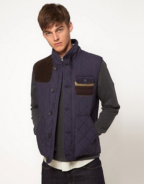 Image 1 ofASOS Gilet With Aztec Pocket