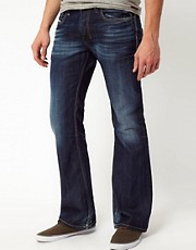 Diesel - Zathan 0806U - Jeans bootcut con lavaggio scuro