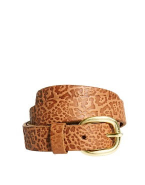 Image 1 ofPieces Sava Leather Jeans Belt