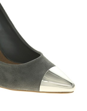 Image 4 ofASOS SIDNEY Pointed High Heels with Metal Toe Cap