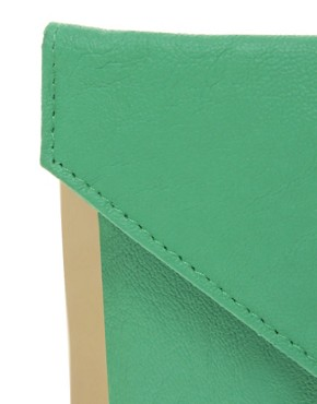 Image 2 ofASOS Metal Bar Detail Envelope Clutch