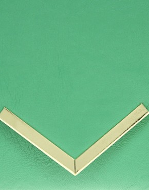Image 4 ofASOS Metal Bar Detail Envelope Clutch